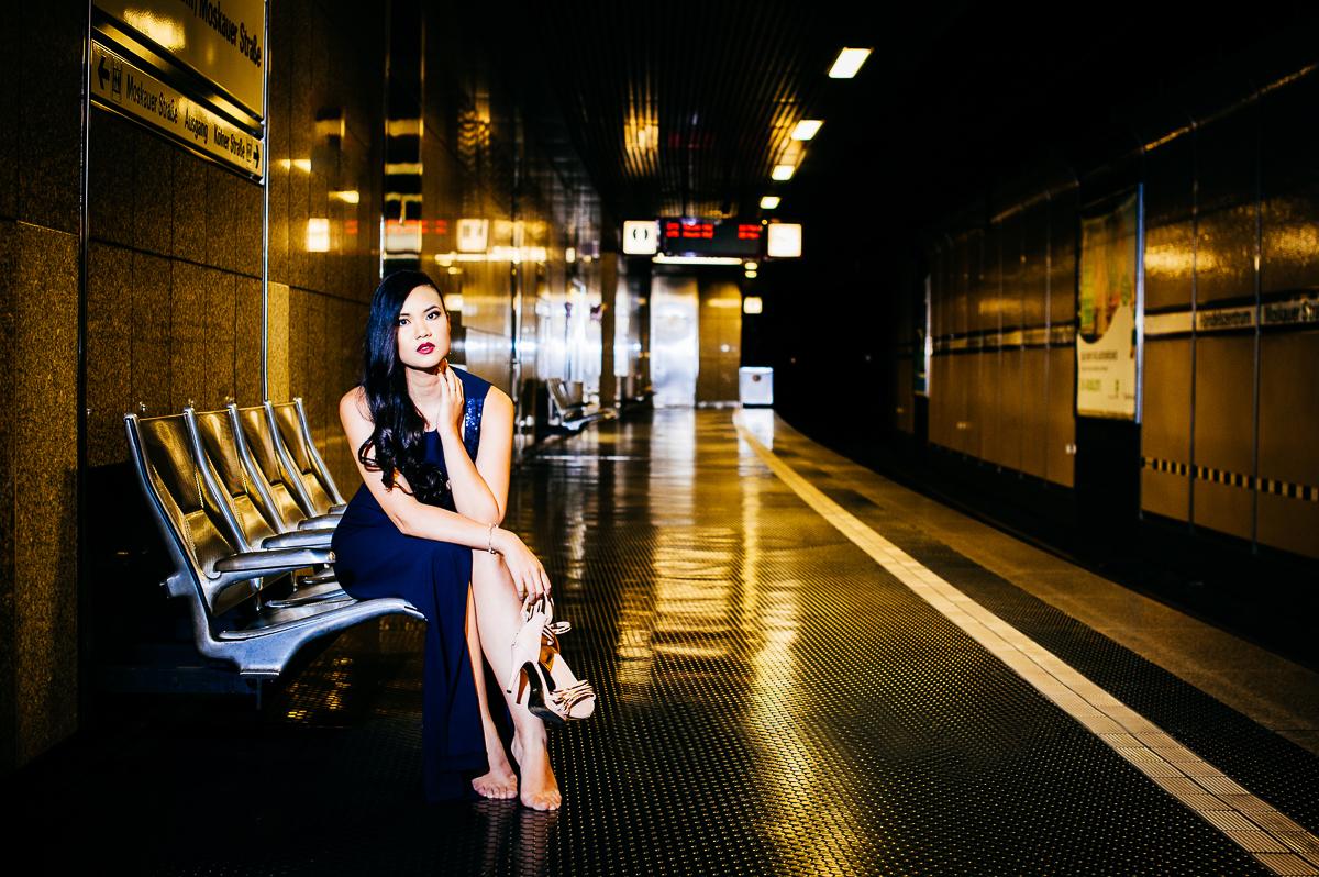 Fashion, Fotografie, Düsseldorf, Nacht, Ulla Born, 1augenblick, Abendkleider,